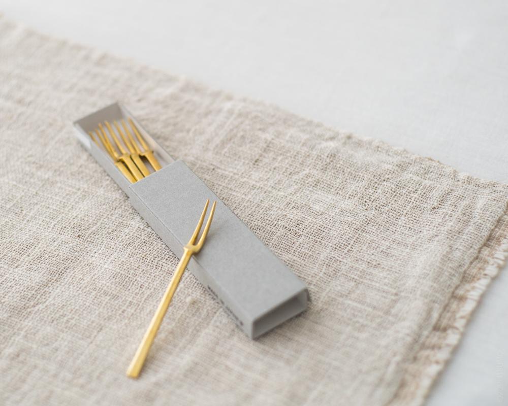 Azmaya Hime Forks - Brass