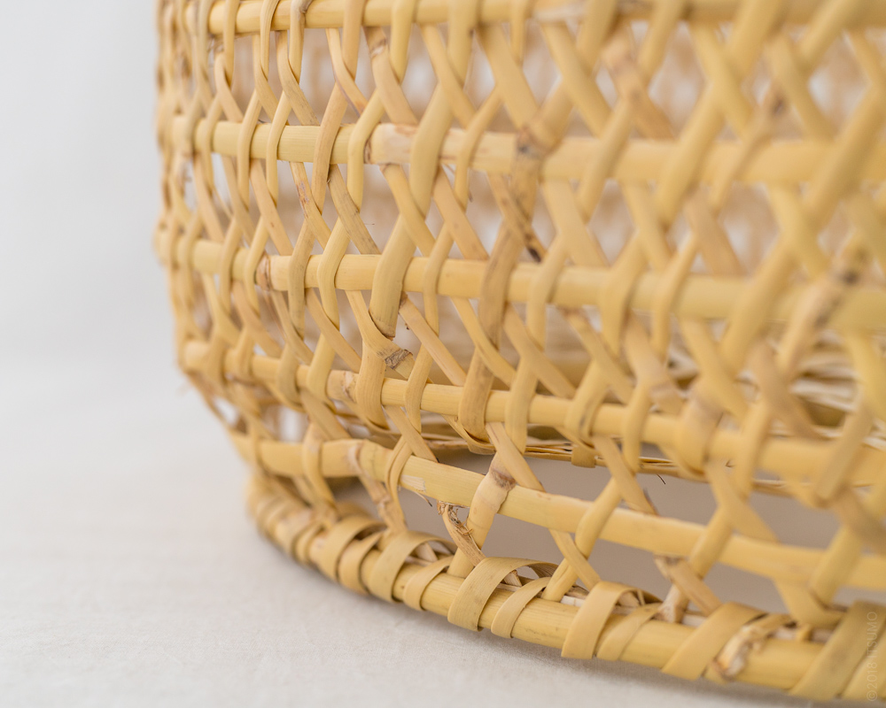 Bamboo Chawan Basket - Round