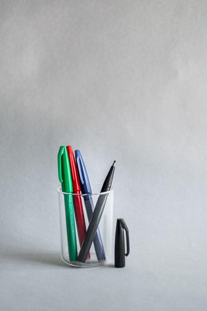 Stationery_Pentel_sign pen_black-red-blue-green
