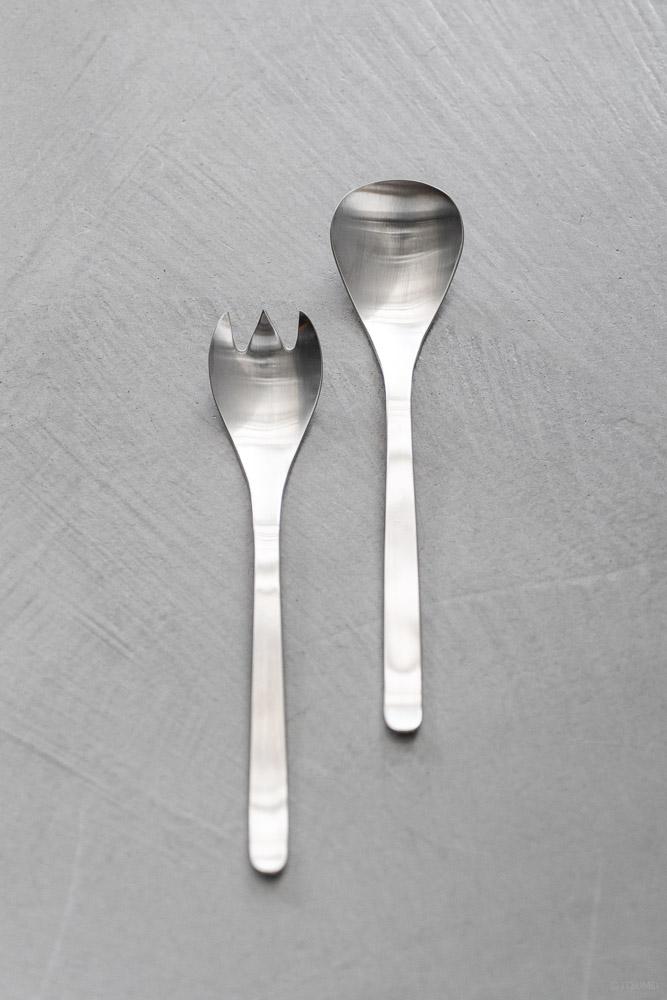 Sori Yanagi_Service Spoon & Fork_top