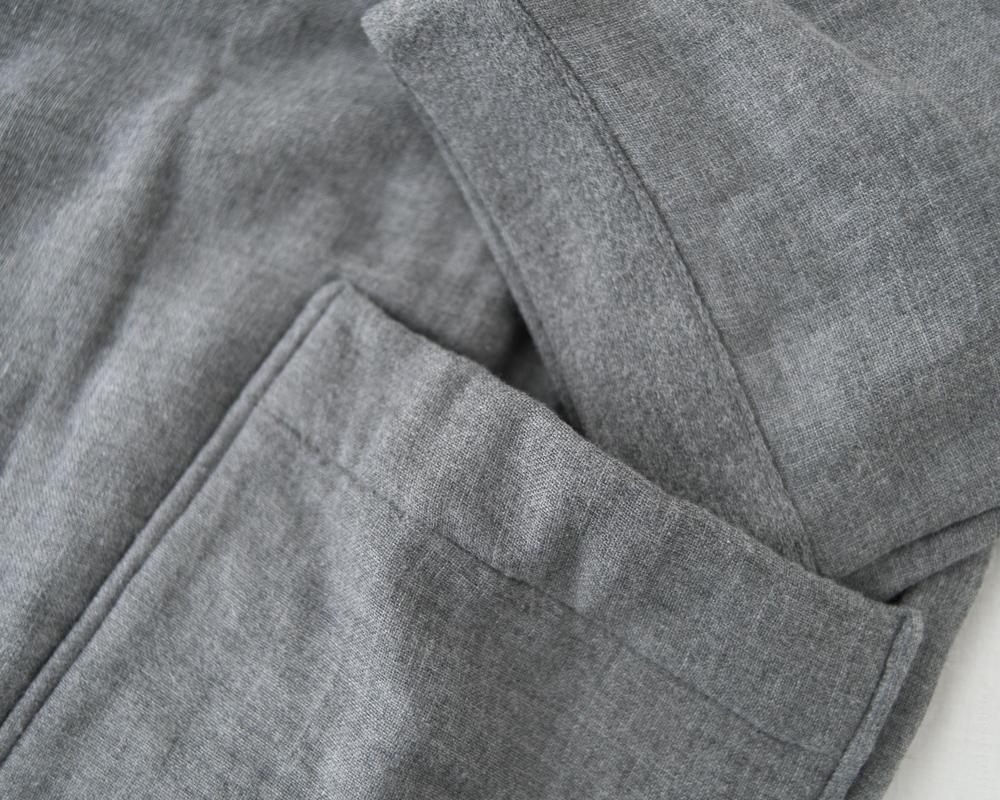 UCHINO_Sumi Gauze & Pile-Kimono-Robe_Grey-5