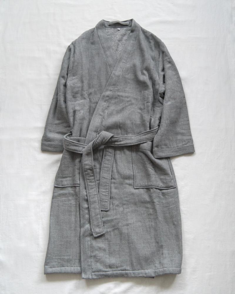 UCHINO_Sumi Gauze & Pile-Kimono-Robe_Grey-6