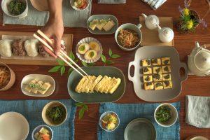 Yumiko Iihoshi Porcelain_Azmaya_Kyoto Serving Chopsticks_Textile_Dining Table Styling