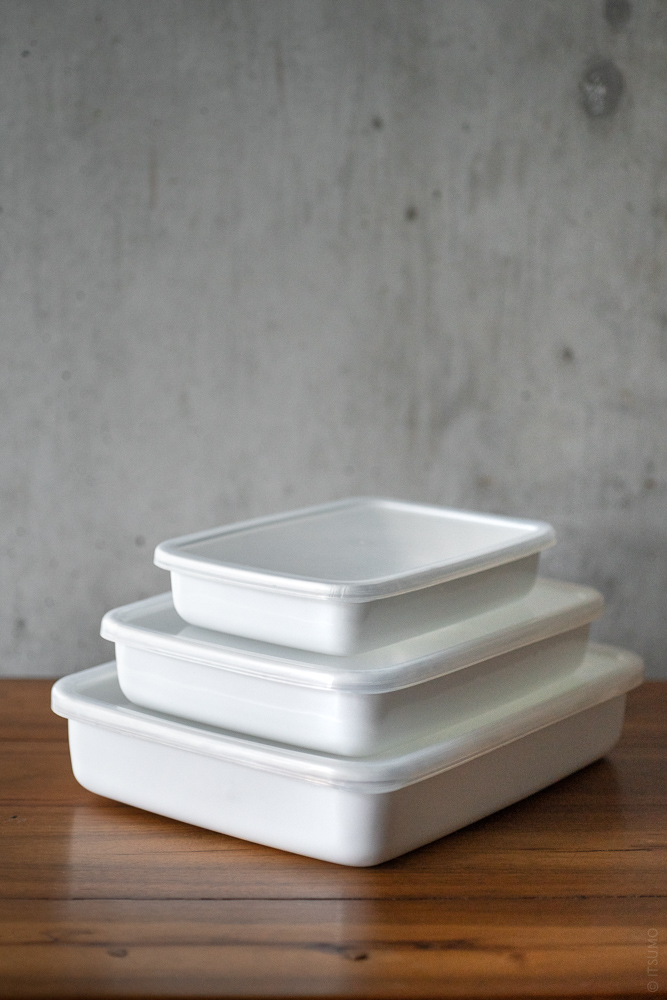 Noda Horo_Enamel Container_Rectangle Shallow_top
