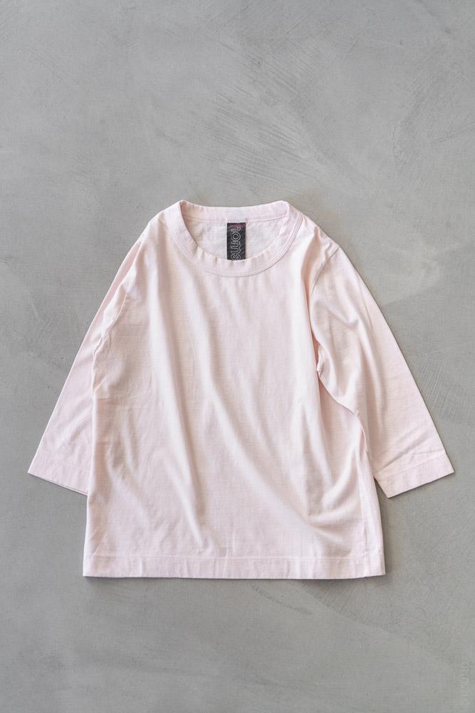 Homspun_3/4 Sleeve T-shirt_light pink_top