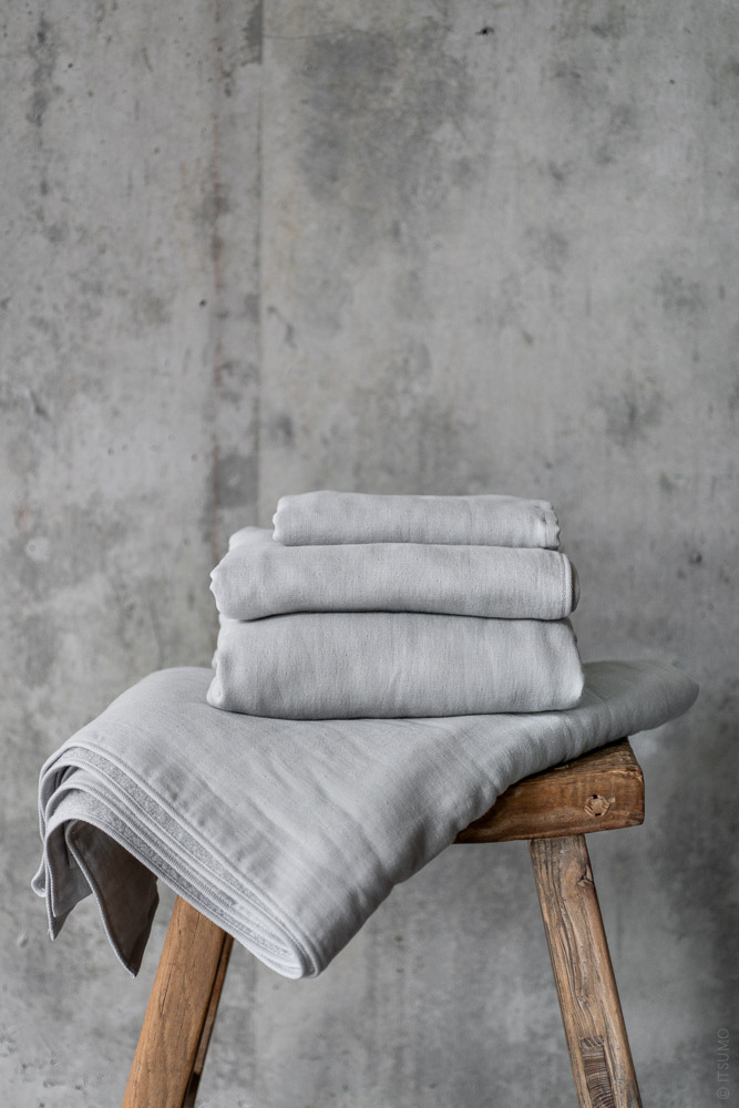 Uchino_Gauze & Pile Towel_grey_top