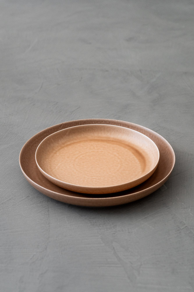 Yumiko Iihoshi Porcelain_ReIRABO_Dinner Plate_warm soil brown_top