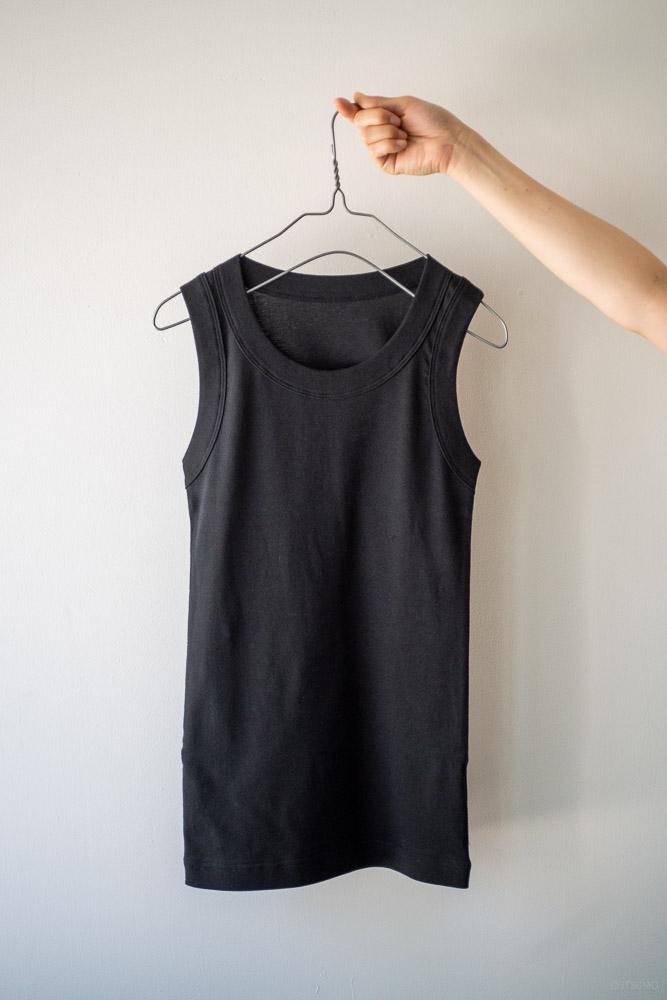 homspun-women's cotton tank top-black
