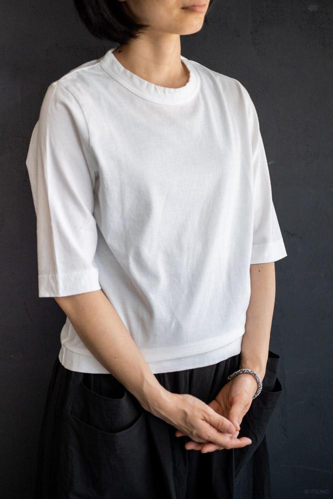 homspun-women's cotton half sleeve t-shirt-white