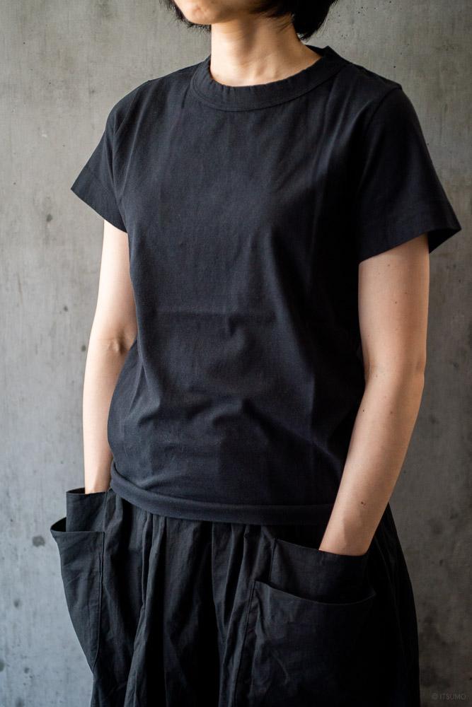 homspun-women's cotton short sleeve t-shirt-black